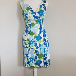 Donna Ricco NY Blue/Green Sleeveless Sundress